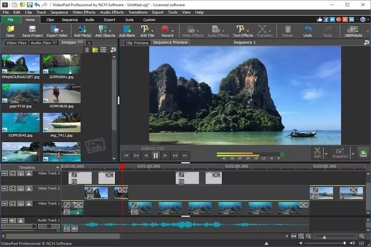 videopad montaggio video